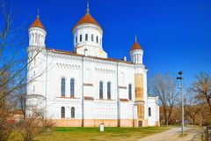 Prechistensky-Kathedrale - orthodoxe Kathedrale in Vilnius angeordnet lizenzfreie stockbilder
