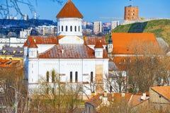 Prechistensky-Kathedrale - orthodoxe Kathedrale in Vilnius angeordnet lizenzfreie stockfotografie