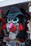 Prechristian poganina popularna maska używać w nowy rok świętowaniach zdjęcia stock