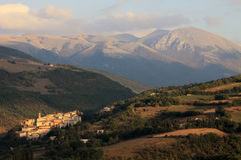 Preci in Monti Sibillini Stock Photography