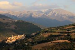 Preci in Monti Sibillini. Town Preci in National Park Monti Sibillini Italy Stock Photography
