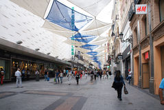 Preciados street of Madrid Stock Image