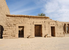 Precinct of Amun-Re in Egypt. Sunny illuminated architectural scenery at the Precinct of Amun-Re in Egypt (Africa Royalty Free Stock Photos