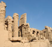 Precinct of Amun-Re in Egypt. Sunny illuminated architectural scenery at the Precinct of Amun-Re in Egypt (Africa Stock Photo