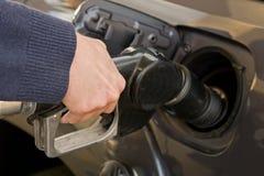 Precio alto de la gasolina Imágenes de archivo libres de regalías