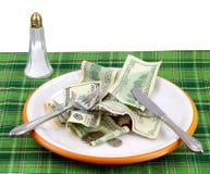 Precio alto del alimento Imagen de archivo libre de regalías