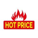Precio caliente en banderas del fuego Fotos de archivo