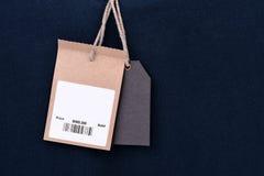 Precio con el código de barras Imagen de archivo libre de regalías