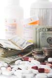 Precio creciente de cuidado médico fotografía de archivo libre de regalías