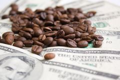 Precio de Caffee Fotografía de archivo libre de regalías