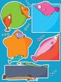 Precio de la etiqueta de los pescados Imagen de archivo