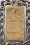 Precio de la etiqueta en el metal Imagen de archivo libre de regalías