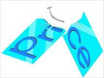 Precio de la placa de cristal Imagen de archivo