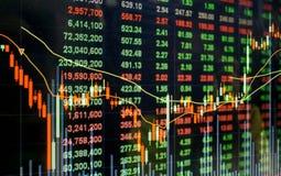 Precio de mercado de acción Imágenes de archivo libres de regalías