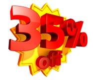 precio del 35 por ciento del descuento Fotografía de archivo