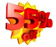precio del 55 por ciento del descuento Foto de archivo