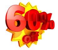 precio del 60 por ciento del descuento Imágenes de archivo libres de regalías