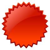 Precio en blanco de la estrella Fotos de archivo libres de regalías