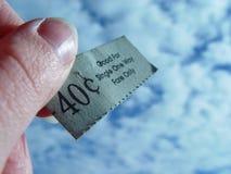 Precio unidireccional Imagenes de archivo