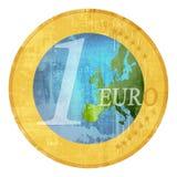 Precio verde euro ilustración del vector