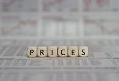 precios Fotografía de archivo