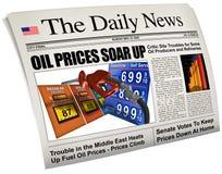 Precios altos de la gasolina imágenes de archivo libres de regalías