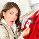 Precios costosos de las compras Imagen de archivo