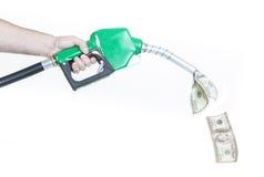 Precios de combustible Fotos de archivo libres de regalías