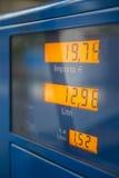 Precios de combustible Foto de archivo