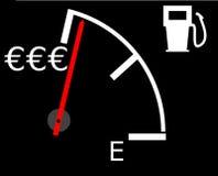 Precios de combustible de levantamiento fotos de archivo