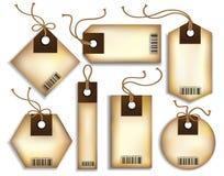 Precios de la cartulina Imagen de archivo libre de regalías