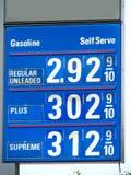 Precios de la gasolina Fotos de archivo