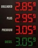 Precios de la gasolina Foto de archivo