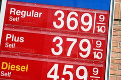 Precios de la gasolina Fotografía de archivo