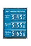 Precios de la gasolina en la subida Fotografía de archivo