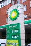 Precios de la gasolinera del punto de ebullición Imagen de archivo libre de regalías
