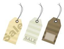 Precios de la venta al por menor para cada estación de las compras Imagenes de archivo