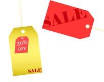 Precios de la venta al por menor para cada estación de las compras Imagen de archivo