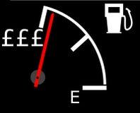 Precios de levantamiento de la gasolina imagen de archivo libre de regalías