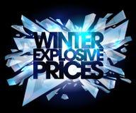Precios del explosivo del invierno Foto de archivo