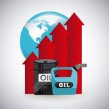 Precios del petróleo Imagenes de archivo