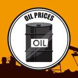Precios del petróleo Fotografía de archivo libre de regalías