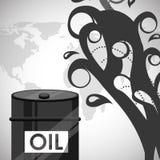 Precios del petróleo Fotos de archivo libres de regalías