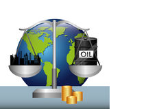 Precios del petróleo Imágenes de archivo libres de regalías