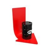 Precios del petróleo que caen el ejemplo Foto de archivo libre de regalías