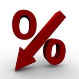 Precios en baja ilustración del vector