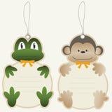 Precios rana y mono de los niños stock de ilustración