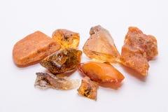 Precioso mineral da joia de cristal ambarina da gema de pedra preciosa do diamante Imagem de Stock Royalty Free