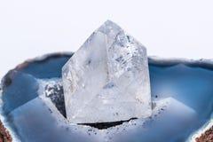 Precioso mineral da joia de cristal clara branca da gema de pedra preciosa do diamante Imagem de Stock