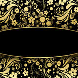 Precious black and gold background Royalty Free Stock Photos